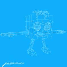 Cute cartoon cube done for an internet children news show. Done in Cinema 4D / Personaje cubo hecho en Cinema 4D para show infantil de noticias