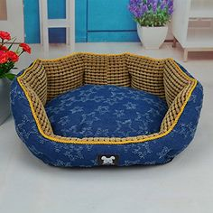 NEO Home Corn Kernel Design Canvas Round Dogs Bed or Cats Kennel Bottom Waterproof and 100 Washable >>> You can get more details by clicking on the image.