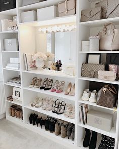 Closet Goals😍 , , , , by Luxe Decor💕 Sala Glam, Closet Bedroom, Bedroom Decor, Pax Closet, Master Closet, Dressing Room Design, Ikea Dressing Room, Vanity Room, Closet Vanity