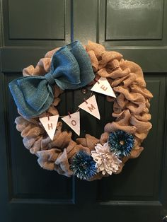 DIY Burlap Wreath                                                       …