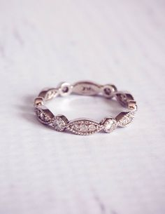 The Victoria: 1930's Style Diamond Pave Wedding by TemsahJewelers