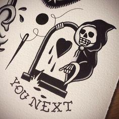 grim reaper tattoo old school - Google Search