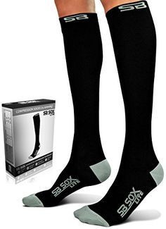 SB SOX Lite Compression Socks 1520mmHg for Men  Women  PREMIUM Design Ideal for Everyday Use Running Pregnancy Flight  Travel Nursing Includes FREE EBook BlackGray LXL ** You can get more details by clicking on the image. Note: It's an affiliate link to Amazon