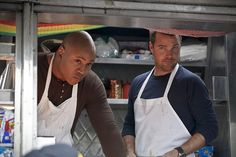 Pictured: LL COOL J (Special Agent Sam Hanna) and Chris O'Donnell (Special Agent G. Callen). Callen and Sam go undercover as food truck owners in Mexico to find the source of an anthrax poisoning before it's used to create a bioweapon, on NCIS: LOS ANGELES