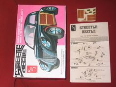 AMT Model Box 'Streetle' Beetle, Instructions and Decals Hobby Kits, Beetle, Decals, Reading, Toys, Model, Ebay, Vintage, June Bug