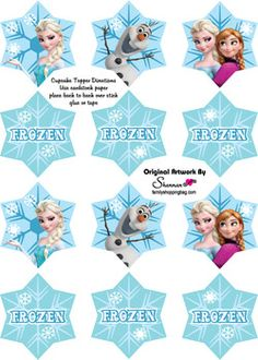 Cupcake Toppers, Frozen, Party Decorations - Free Printable Ideas from Family Shoppingbag.com