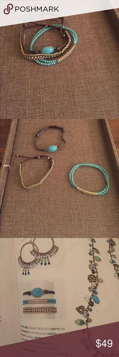 Premier Designs BFF Bracelet Premier Design BFF bracelets.  Stack them.  Three individual bracelets.  This goes great with the Cape Cod Necklace and Earrings listed in separate auctions.  Get 10% off if you buy two or more pieces. Premier Designs Jewelry Bracelets