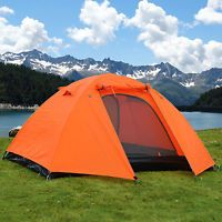 2 Person Double layer Outdoor Waterproof UltraLight Backpack C&ing Hiking Tent : marmot grid tent - memphite.com