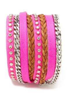 Wrap your wrists in hot neon pink!
