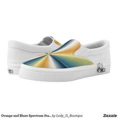 Orange and Blues Spectrum Star Zipz Slip-ons Printed Shoes