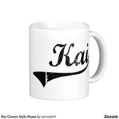 Kai Classic Style Name Classic White Coffee Mug