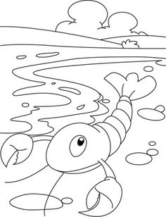 little lobster coloring pages