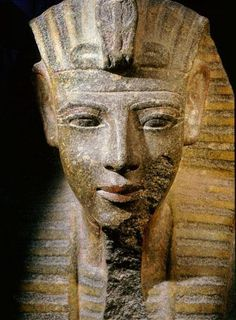 Bust of King Merneptah, r. 1213-1203 BC, thirteenth son and successor of Ramesses II, from his mortuary temple at Thebes. Now at the Egyptian Museum, Cairo.