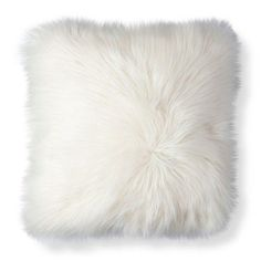 06cebb84dc81 Neutral Accessories That Are Anything But Boring. White Fur PillowFaux ...