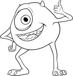 How To Draw Mike Wazowski And Sully How to Draw Mik...
