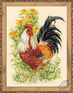 Rooster - Cross Stitch Craft Kits by RIOLIS - 1479
