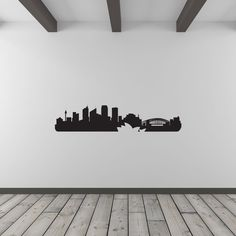 Sydney City Skyline Vinyl Wall Art Decal. One of many stunning vinyl products available at Vinyl Revolution.