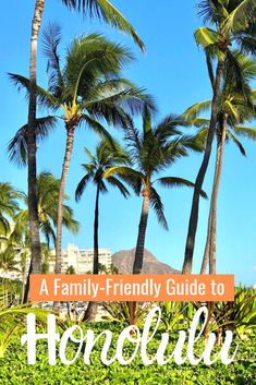 Looking for family-friendly things to do in and around Honolulu Hawaii? We've got you covered! From Waikiki to Pearl Harbor we'll show you everything from kid friendly menus to the most beautiful beaches on Oahu! Usa Travel Guide, Travel Advice, Travel Usa, Travel Tips, Travel Quotes, Travel Ideas, Travel Couple, Family Travel, Visit Usa