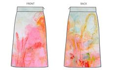 This was the original design of the Painter's Palette Skirt, which was inspired by the #artwork of Claire #Desjardins. #anthro #anthropologie