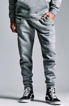 Primitive Pinch Hitter Fleece Jogger Pants – Mens Pants – Grey