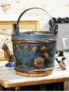Antique wood bucket...
