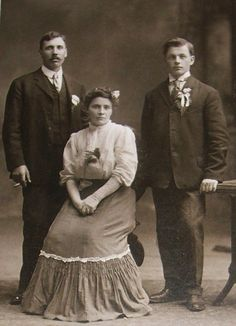 Two handsome men and a lovely lady -- Milwaukee, Wisconsin (circa 1890s)