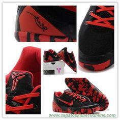 sites de lojas de tenis Preto / Vermelho 653972-702 Nike Kobe IX EM XDR