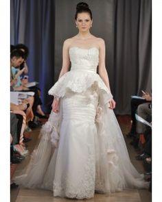 Peplum Wedding Dresses, Spring 2013 Bridal Fashion Week