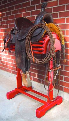 It's perfect! Western ]Saddle Display Stand by Lebensstil on Etsy