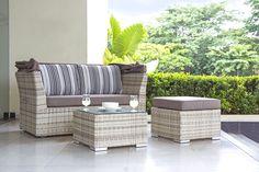 Jack Lounge Junior white cream Outdoor Furniture Sets, Outdoor Decor, Lounges, Cream, Home Decor, Backyard Patio, Lounge Furniture, Stool, Creme Caramel