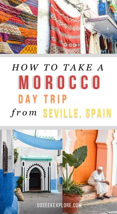 How to Take a Morocco Day Trip from Seville, Spain! Traveling to Morocco's northern coastal town of Tangier is just a short ferry ride from Southern S Visit Morocco, Morocco Travel, Africa Travel, Spain Travel, Vietnam Travel, Cool Places To Visit, Places To Travel, Travel Destinations, Travel Trip