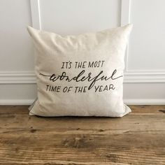 The Most Wonderful Time of the Year Pillow Cover