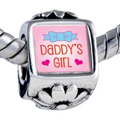 Pugster Bead Pink Daddy's Girl Beads Fits Pandora Bracelet Pugster. $12.49. Weight (gram): 3.75. Bead Size (mm): 7.46mm*8.09mm*12.09mm. Metal: base metal. Note: Snake chain is not included