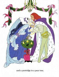 The Twelve Days of Christmas Illustrated by Sheilah Beckett 1992 Little Golden Books Mother Art, Different Art Styles, Christmas Characters, Little Golden Books, Christmas Art, Vintage Christmas, Princesas Disney, Book Illustration, Art Google