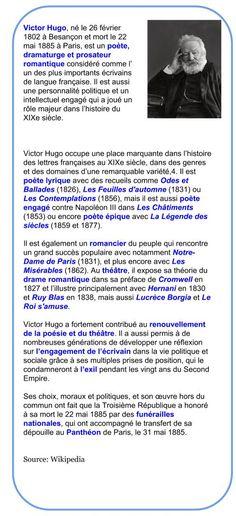 Après une jeunesse assez vagabonde -des voyages en Italie et en Espagne- Hugo rentre à Paris où il se prépare à l'Ecole polytechnique. Mais déjà à 14 ans il écrit : 'Je veux être Chateaubriand ou r...