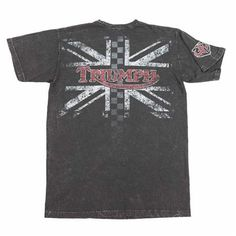 David UHL Legendary Moto Black Tee | Reviving the vintage look and feel Triumph used in its early years, the legend lives on with the Triumph UHL Legendary Moto T-shirt. | Triumph Motorcycles