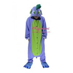 Spike the Dragon Onesie Kigurumi Pajamas now is available for Pre-Order / Make-to-Order (3 ~ 5 days) !!!This Spike the Dragon kigurumi costume is one that will appeal to girls and teens.It's time to wear and play with the softest, sweetest Spike the Dragon kigurumi onesies ever. Spike the Dr