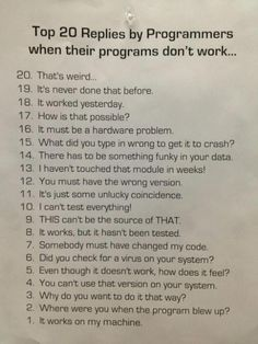 How many will you admit to?? #FunFriday #indiedev #programminghumour