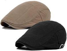 b557f577a6a Newsboy Men s Cotton Flat Ivy Gatsby Golf Driving Summer Hat Cap Duckbill  Linen  fashion
