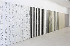 """Daniel Buren - Installation """"Au fur et à mesure"""" Daniel Buren Photo-souvenir, 2015"""