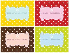 Lot's of free printables. Part 10: Free Printable Holiday Labels | 'i do'-it-yourself®