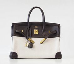 HERMES BIRKIN 35 Bag Very Rare Toile EBENE Clemence Gold Hardware Clothing, Shoes & Jewelry : Women : Handbags & Wallets : http://amzn.to/2jE4Wcd