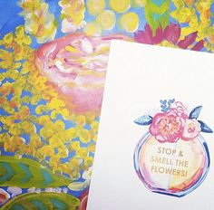 Stop and Smell the Flowers 8.5 x 11 Perfume Print by EvelynHenson
