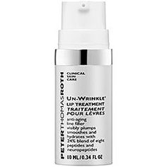 Peter Thomas Roth Un-Wrinkle Lip, .34 oz - helps to take years off your lips by reducing the appearance of fine lines and wrinkles around the lip area. It contains anti- aging peptides for a smoother more youthful mouth. Lips will appear fuller, more defined, and moisturized instantly.