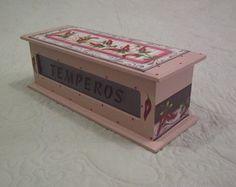 Caixa Porta Temperos Pimentas