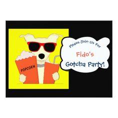 #party - #Dog GOTCHA Birthday Adoption Party Invite 2