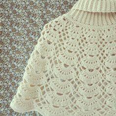 ByHaafner, Japanese crochet pattern, crochet cape