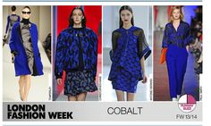 Colbalt Blue on the runway for fall 2014.  Fall colors, trends.