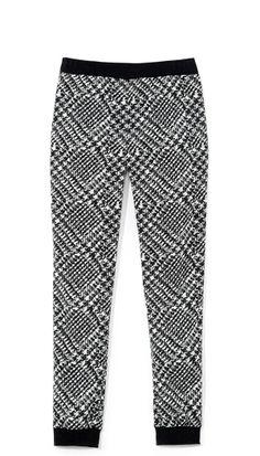 Tibi - Printed Tweed Jogging Pant