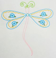 Color work Dagonfly machine embroidery by CocobeanBoutique on Etsy, $3.50 Applique Designs, All Design, Machine Embroidery, Patches, Artwork, How To Make, Etsy, Color, Colour